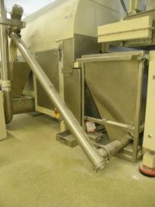 Przenośnik ślimakowy przeznaczony do transportu pudru