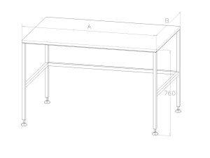 Stół roboczy ze stali nierdzewnej